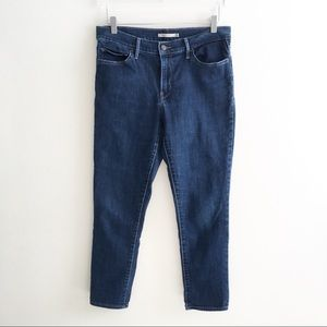 Levi's Slimming Skinny Jeans 31 Mid Rise Crop